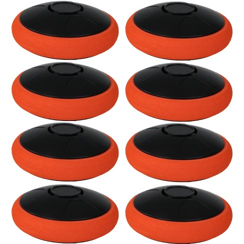 """Sunnydaze Indoor Replacement Durable Plastic Electronic Rechargeable Hover Air Hockey Puck - 2"""" - Red and Black - 8pk - image 1 of 2"""