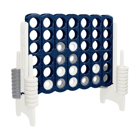 ECR4Kids Jumbo Four-To-Score Giant Game-Indoor/Outdoor 4-In-A-Row Connect - Navy and White - image 1 of 4