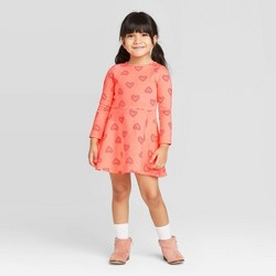 Toddler Girls' Heart Dress - Cat & Jack™ Pink