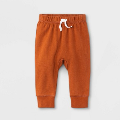 Baby Boys' Harem Jogger Pants - Cat & Jack™ Orange 3-6M
