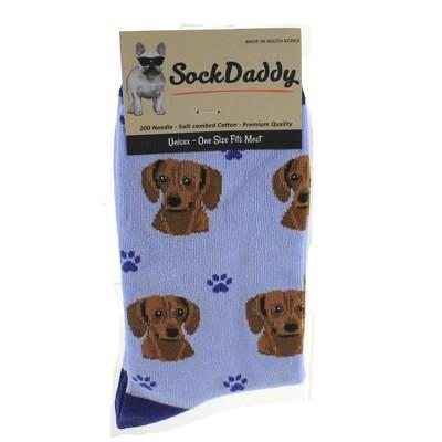 """Novelty Socks 15.25"""" Red Dachshund Socks Premium Quality E & S Pet  -  Socks"""