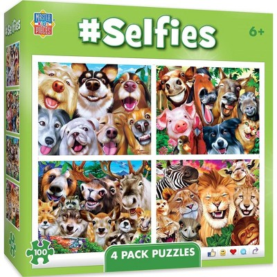 MasterPieces Inc Selfies 4-Pack 100 Piece Jigsaw Puzzles