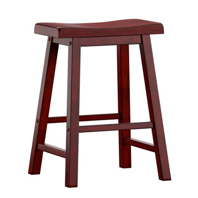 """Set of 2 24"""" Chimney Hill Saddle Counter Height Barstool - Inspire Q"""