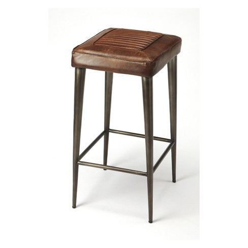Butler Specialty Maxine Bar Stool Brown Leather - image 1 of 4