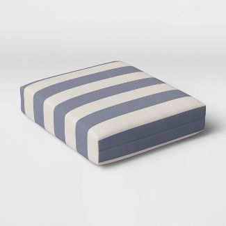 Cabana Stripe Outdoor Seat Cushion DuraSeason Fabric™ Navy - Threshold™