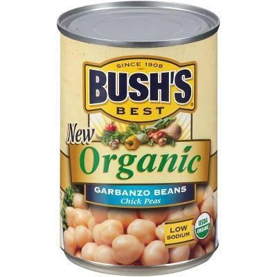 Beans: BUSH'S Organic Garbanzo Beans