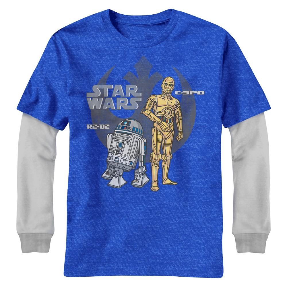Boys' Star Wars Home Droys Graphic T-Shirt - Silver XL, Blue