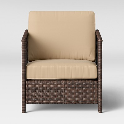 Monroe 2pk Wicker Motion Patio Club Chair - Tan - Threshold™