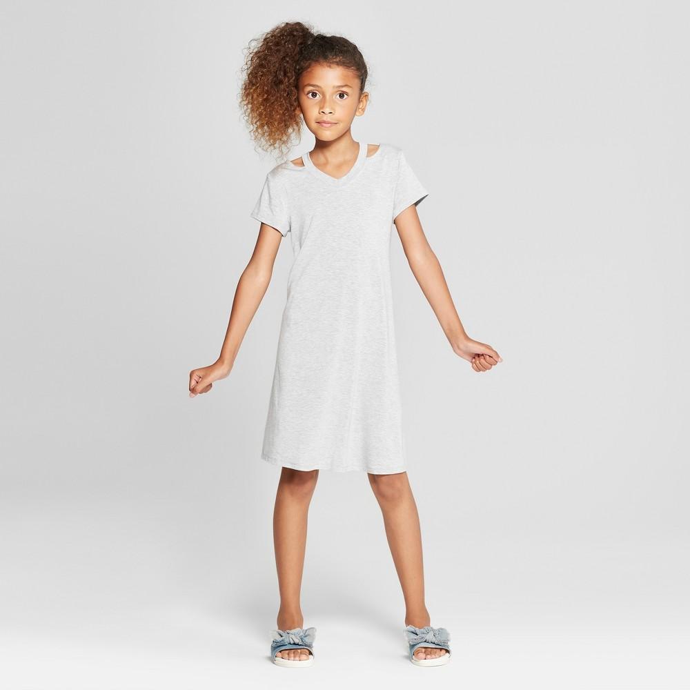 Girls' Cut Out Dress - art class Gray XL