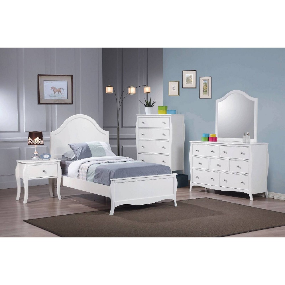 Full Sophie Youth Bed White - Private Reserve