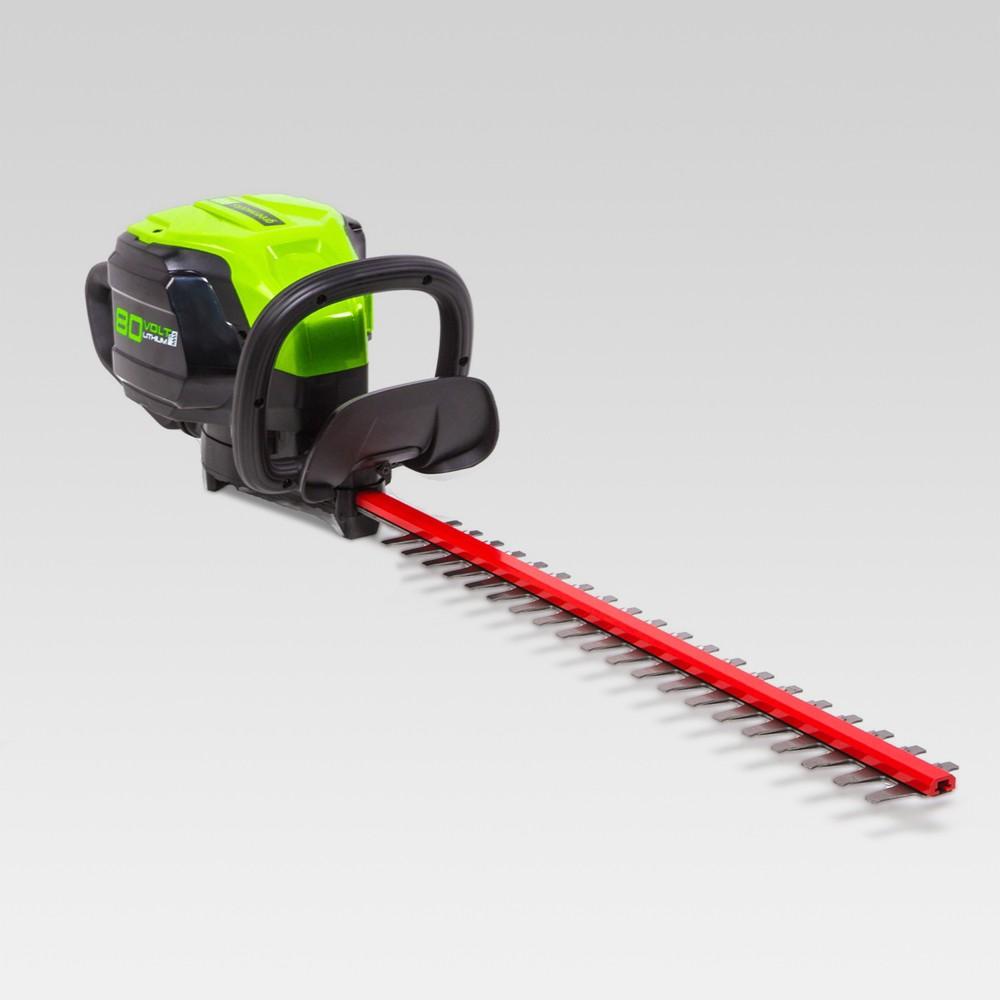 80V 24 Brushless Hedge Trimmer - Electric Lime - GreenWorks