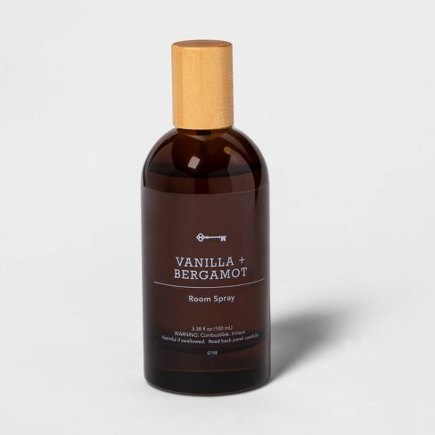 3.38 fl oz Amber Glass Vanilla and Bergamot Room Spray - Threshold™ - image 1 of 2