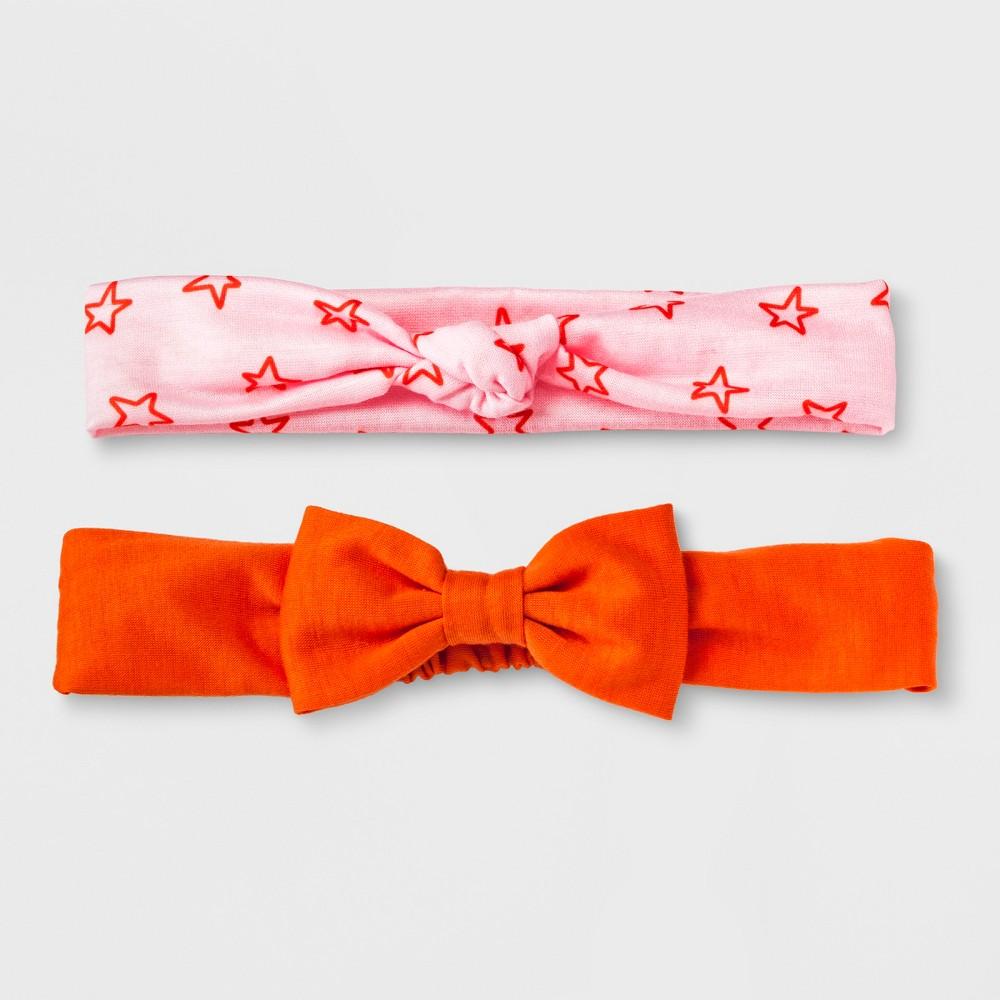 Girls' 2pk Headwrap - Cat & Jack Pink/Orange