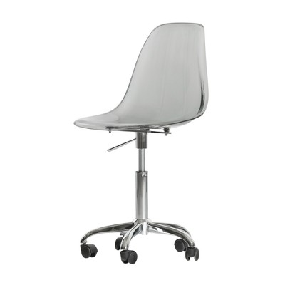 Annexe Acrylic Office Chair With Wheels   South Shore