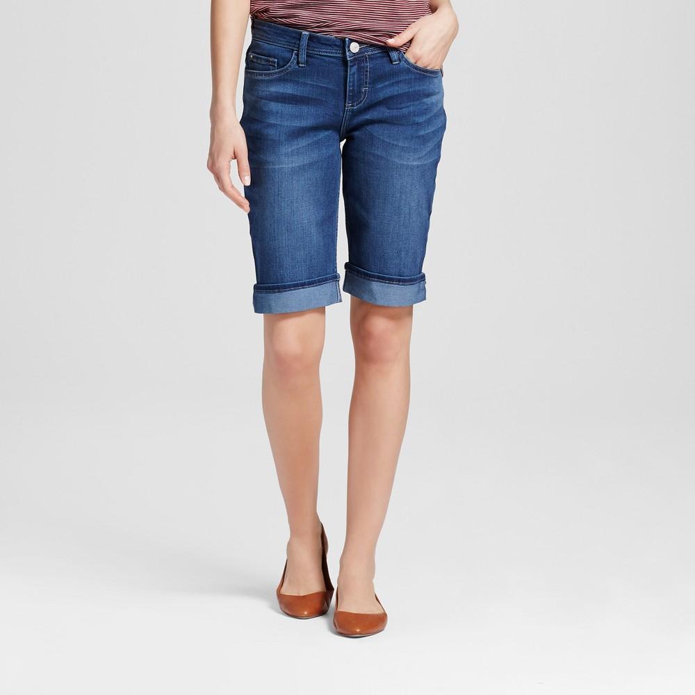 Women's Redmond Cuffed 12 Bermuda Jean Shorts - Crafted by Lee Dark Wash 8, Deep Blue