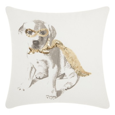 Super Dog Square Throw Pillow - Mina Victory