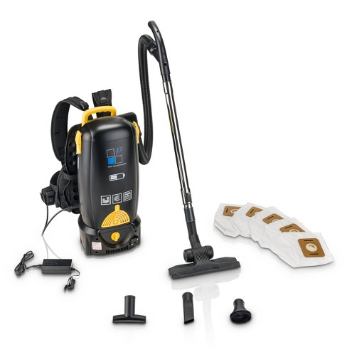 Prolux 8qt Battery Powered Backpack Vacuum - Black - image 1 of 4