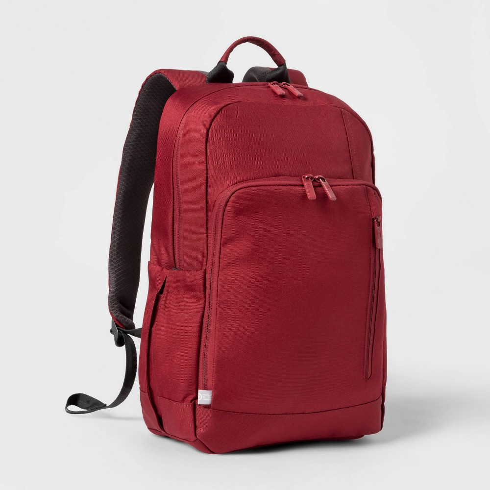 """Image of """"17"""""""" Basic Backpack Red - Made By Design"""""""
