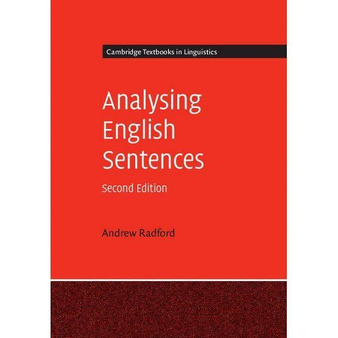 Analysing English Sentences - (Cambridge Textbooks in Linguistics) 2 Edition by  Andrew Radford - image 1 of 1