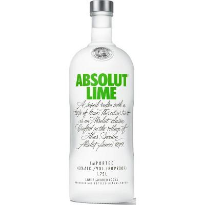 Absolut Lime Flavored Vodka - 1.75L Bottle