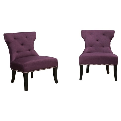 Surprising Genevieve Studded Accent Chair Set 2Ct Christopher Knight Home Gamerscity Chair Design For Home Gamerscityorg