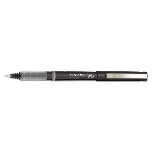 Pilot Precise V5 Roller Ball Stick Pen, Needle Point, 0.5mm Extra Fine - Black Ink (12 Per Pack) - image 1 of 2