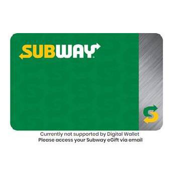 Subway Gift Card $25 (Email Delivery)