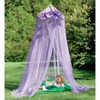 HearthSong - Secret Garden Gauze Hideaway Canopy for Kids Rooms, Purple - image 2 of 4