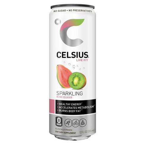 Celsius Sparkling Kiwi Guava Energy Drink - 12 fl oz Can - image 1 of 4