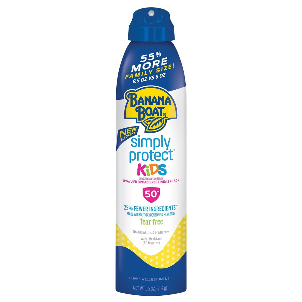 Image of Banana Boat Simply Protect Kids Sunscreen Spray - SPF 50+ - 9.5oz