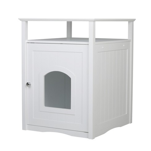 Decorative Litter Box Cover - White - image 1 of 9