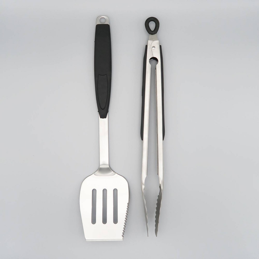 Image of 2pc Barbecue Tool Set Black - Mr. Bar-B-Q