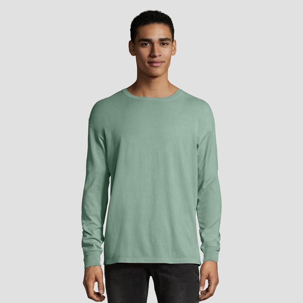 Hanes 1901 Men S Long Sleeve T Shirt Cypress S
