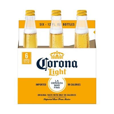 Corona Light Lager Beer - 6pk/12 fl oz Bottles