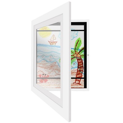 Americanflat Kids Artwork Picture Frame with Lead Free Shatter Resistant Glass