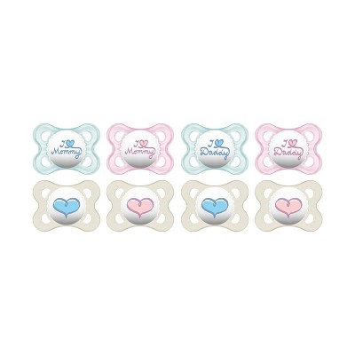 MAM Love & Affection Orthodontic Pacifier, 0-6 Months, 2-Count