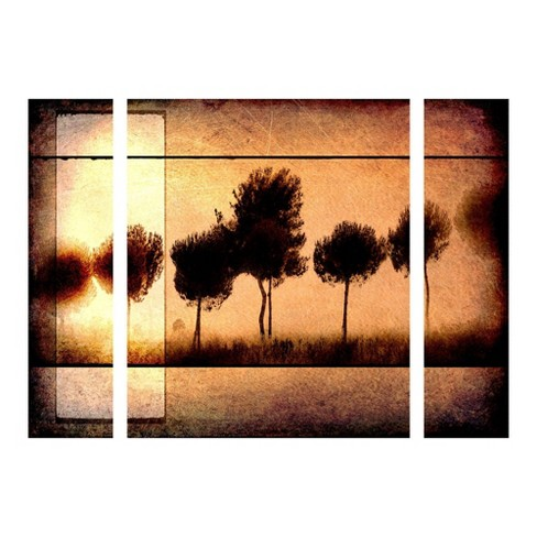 "27""x33.5"" Light Box Journal 'For the Love of Trees I' Multi Panel Decorative Wall Art set - Trademark Fine Art - image 1 of 2"
