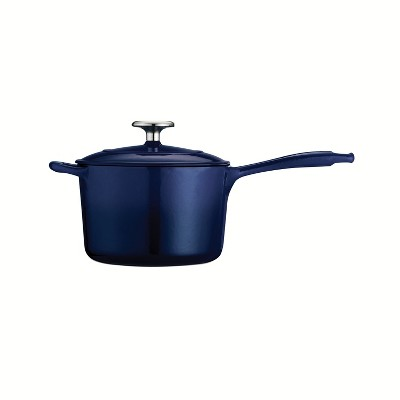Tramontina Gourmet 2.5qt Enameled Cast Iron Sauce Pan with Lid Cobalt