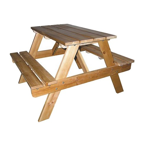 Ore International Indoor-Outdoor Picnic Table - Natural - image 1 of 1