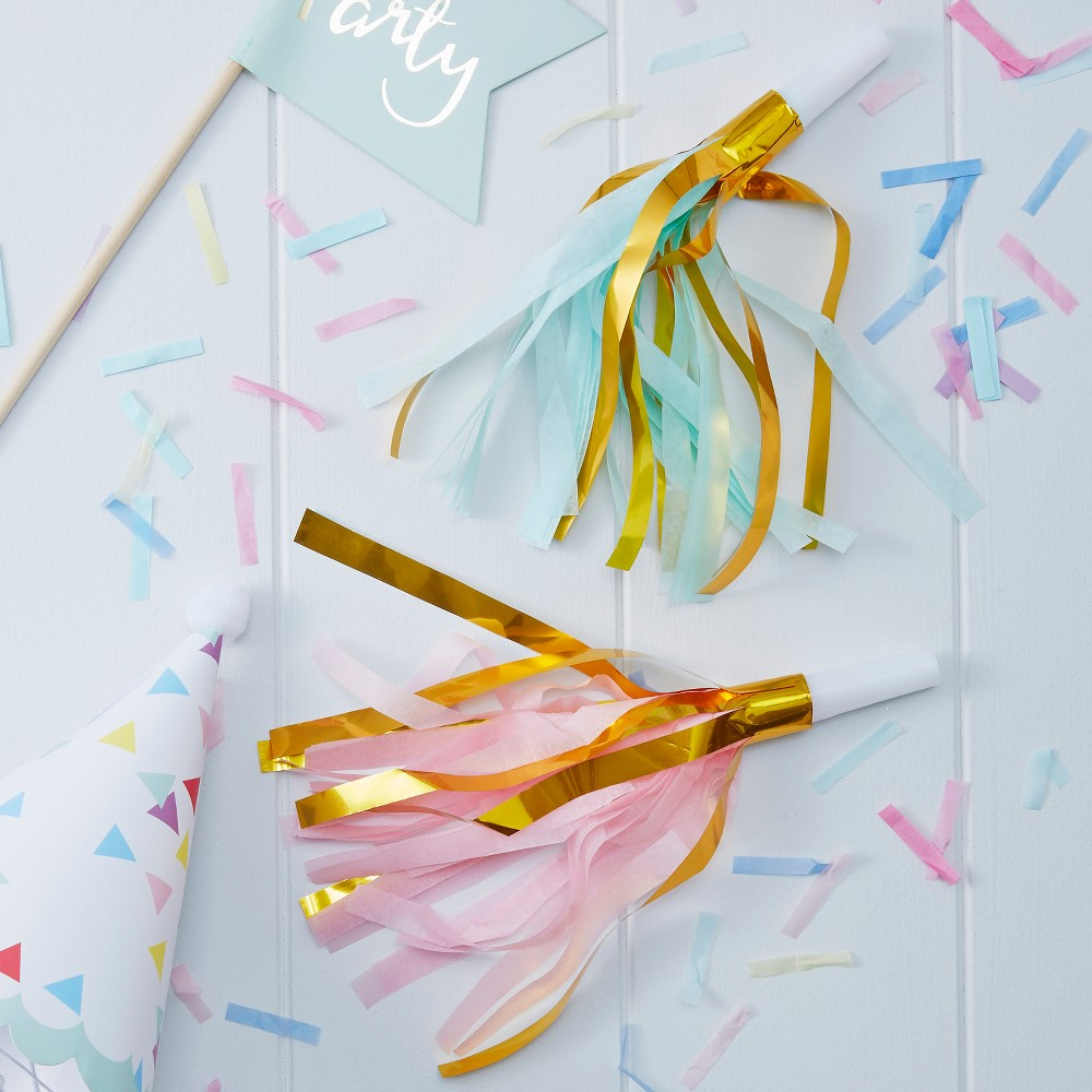 Image of 10ct Pastel Party Horns, party favors