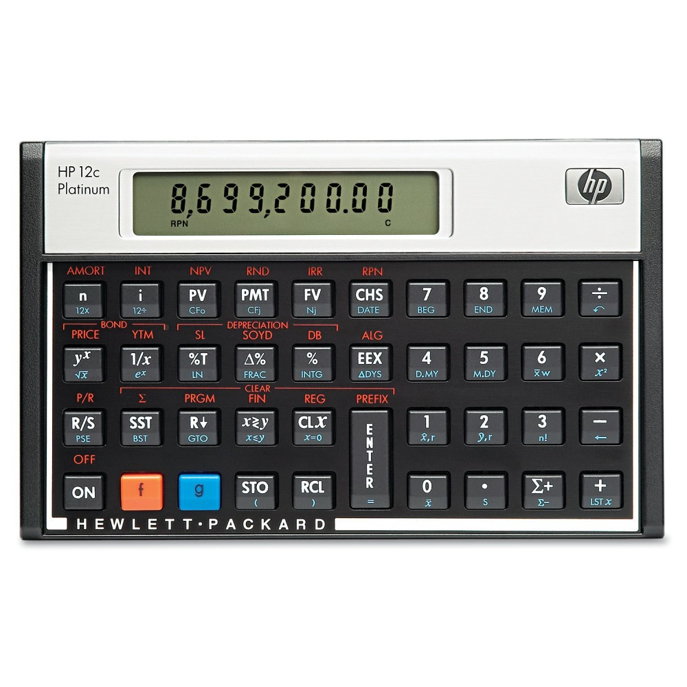 Image of HP 12c Platinum Financial Calculator, 10-Digit LCD
