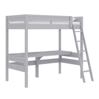 Twin Adryan Loft Bed with Desk - Room & Joy