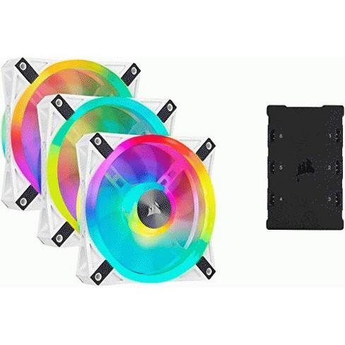 CORSAIR QL Series, iCUE QL120 RGB, 120mm RGB LED PWM White Fan, Triple Fan Kit with Lighting Node CORE - image 1 of 1