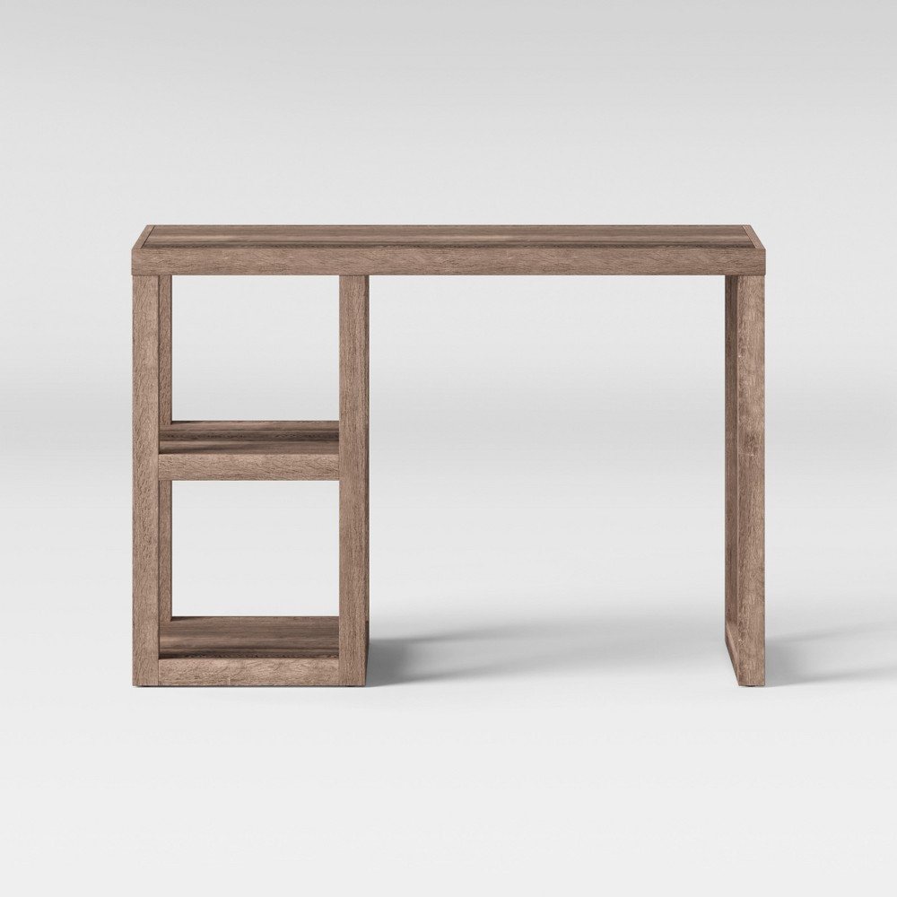 Wood Writing Desk With Storage Rustic Threshold 8482