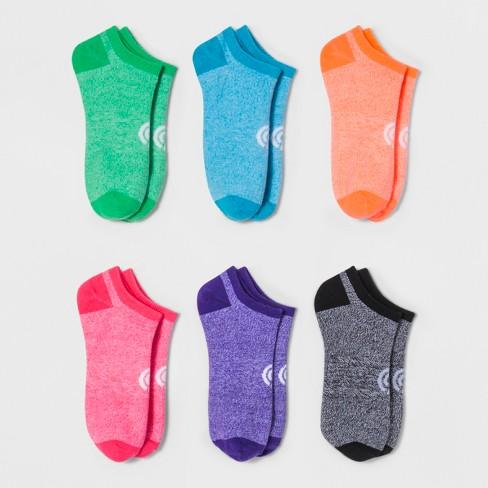 b814ba505d04 Women s No-Show Socks 6pk - C9 Champion® Heather Blue 5-9   Target
