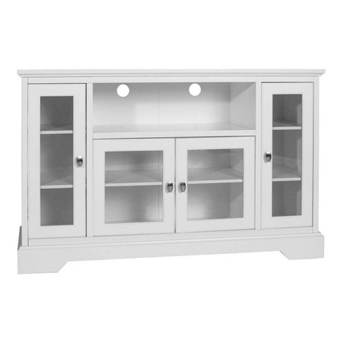 "Glass Door Traditional Highboy TV Stand for TVs up to 58"" - Saracina Home - image 1 of 4"