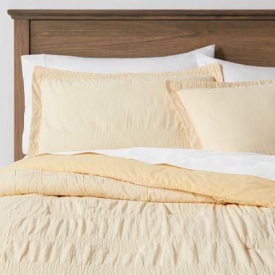 Full/Queen Seersucker Comforter & Sham Set Yellow - Threshold™