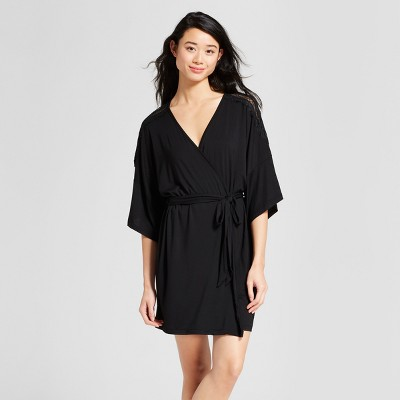 Women s Total Comfort Lace Robe - Gilligan   O Malley™ Black XL XXL   Target 519af922a