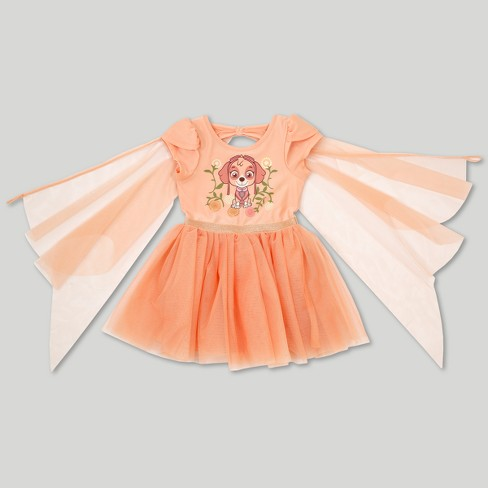 Toddler Girls' PAW Patrol Skye Ballerina Dress - Peach - image 1 of 3