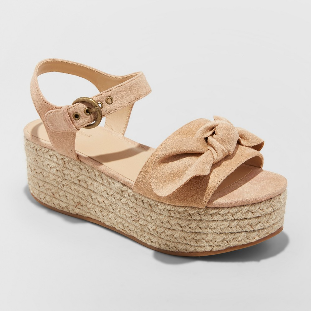 Women's Happy Espadrille Wedge - Universal Thread Taupe (Brown) 9